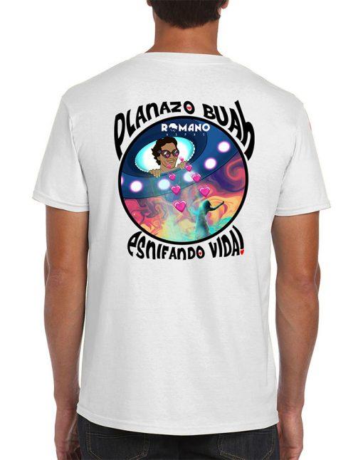 camiseta Esnifando Vida blanca de Romano Aspas