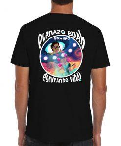 camiseta Esnifando Vida negra de Romano Aspas